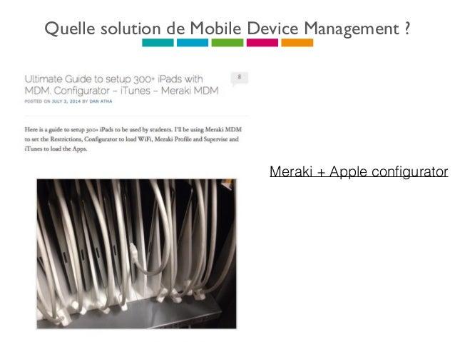 Quelle solution de Mobile Device Management ? Edutab- Novatice