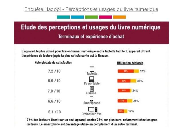 Enquête Hadopi - Perceptions et usages du livre numérique