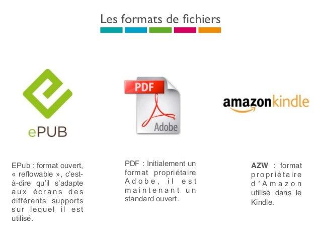 Digital Right Management Adobe Digital Edition • Un compte associé à un fichier • Possibilité d'installer 1 compte sur 6 ma...