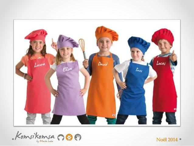 Tablier personnalis et toque enfant - Delantales y gorros de cocina para ninos ...