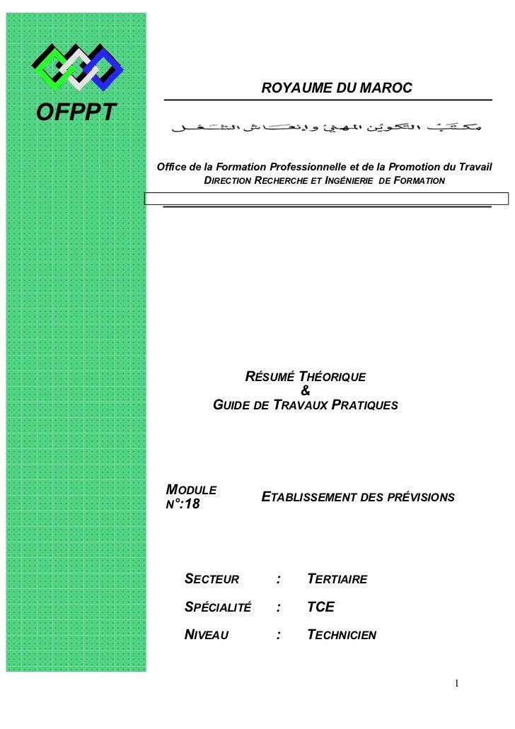 ROYAUME DU MAROCOFPPT        Office de la Formation Professionnelle et de la Promotion du Travail                  DIRECTI...