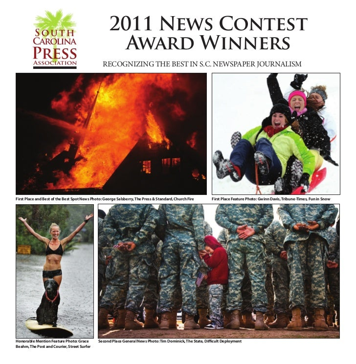 2011 SCPA News Contest Winners • 1                                                    2011 News Contest                   ...