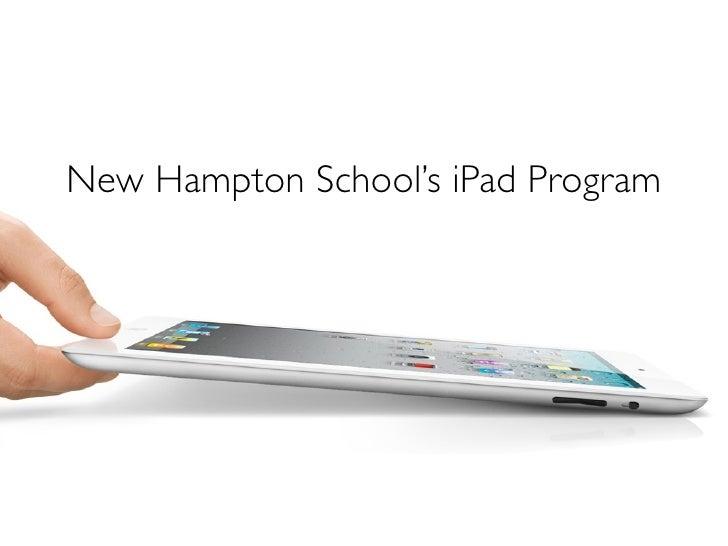New Hampton School's iPad Program