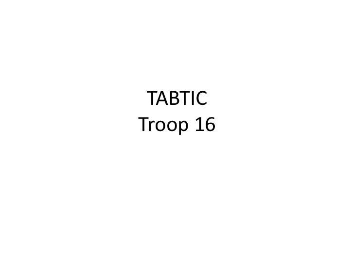 TABTICTroop 16