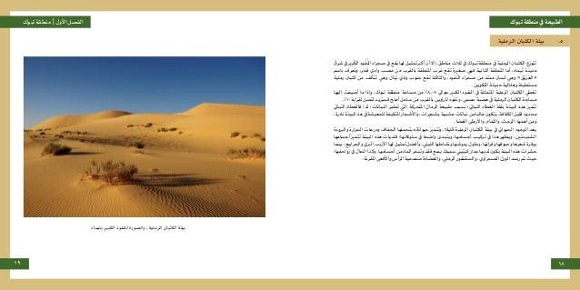 تبوكمنطقةيفالطبيعةتبوكمنطقة |األولالفصل 19 18 الرملية الكثبان بيئة .5 شرق يف ريِب َ الك ...