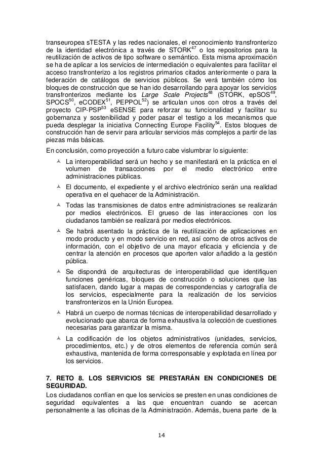 Tabula 16 2013: Cinco retos para la administración electrónica en 2020