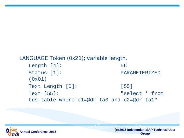 tabular data stream the binding between client and sap ase rh slideshare net