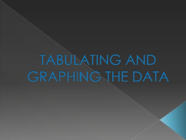 TABULATING AND GRAPHING THE DATA<br />