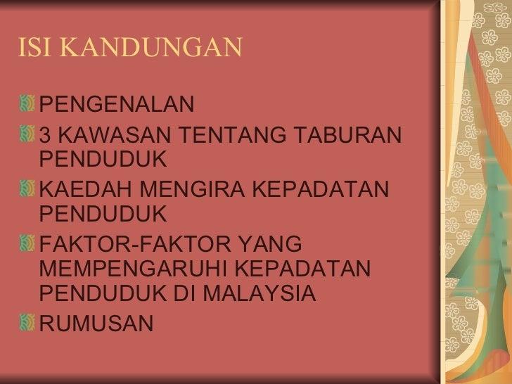 Taburan Penduduk di Malaysia Slide 2