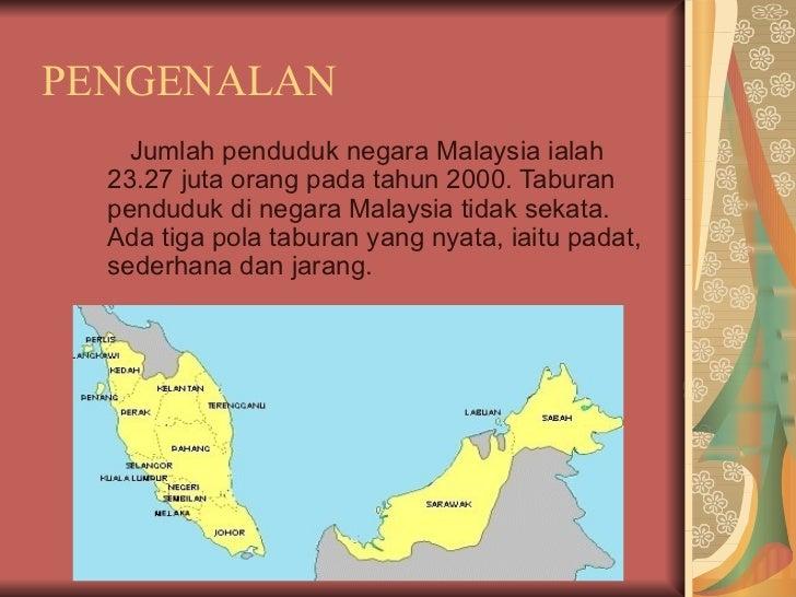 Taburan Penduduk di Malaysia Slide 3