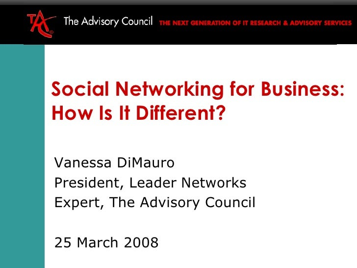 The difference between B2B and B2C community Vanessa DiMauro CEO Leader Networks www.leadernetworks.com v