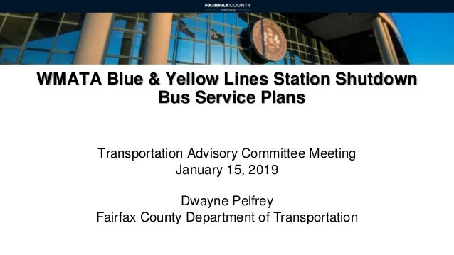WMATA Blue and Yellow Lines Station Shutdown Bus Service Plans