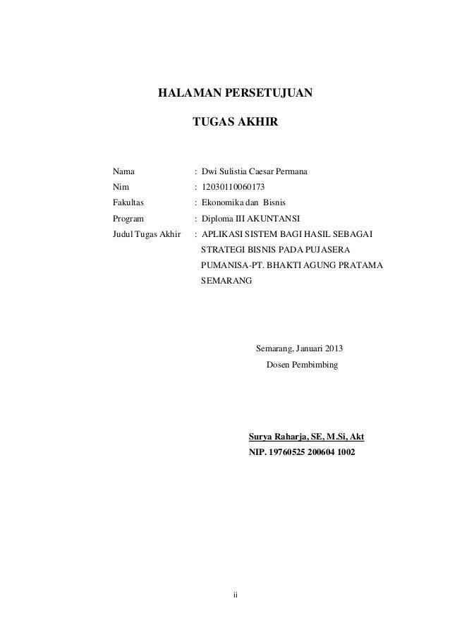 Contoh Judul Laporan Tugas Akhir D3 Akuntansi Seputar Laporan
