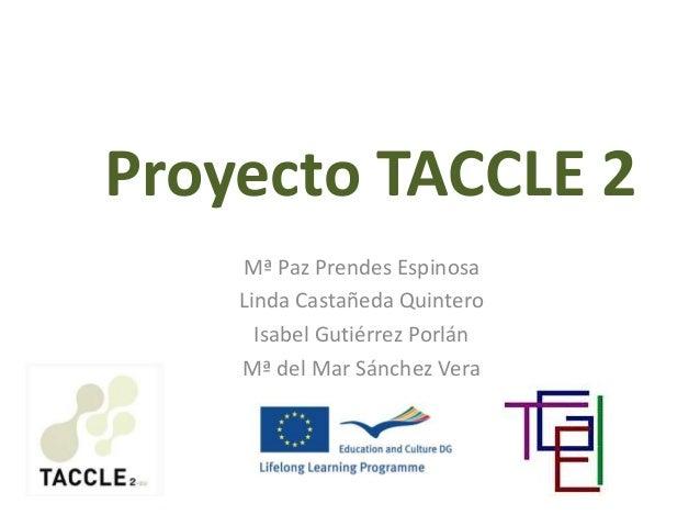 Proyecto TACCLE 2 Mª Paz Prendes Espinosa Linda Castañeda Quintero Isabel Gutiérrez Porlán Mª del Mar Sánchez Vera