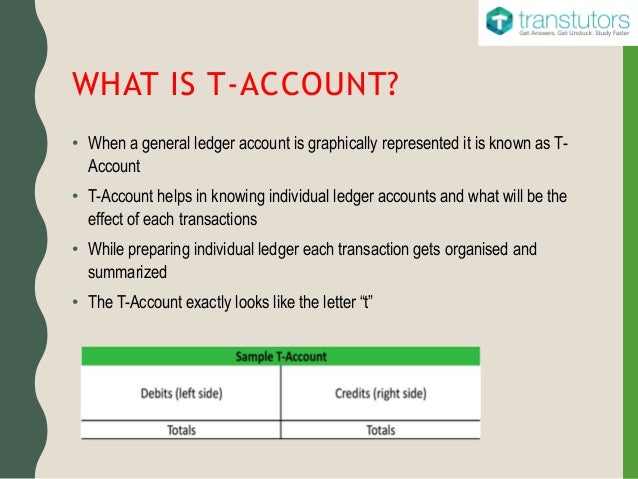 t accounts accounting