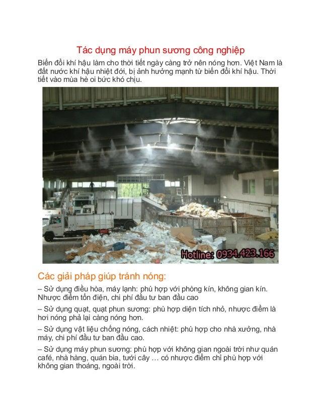 Tác dụng máy phun sương công nghiêêp Biến đổi khí hâêu làm cho thời tiết ngày càng trở nên nóng hơn. Viêêt Na...