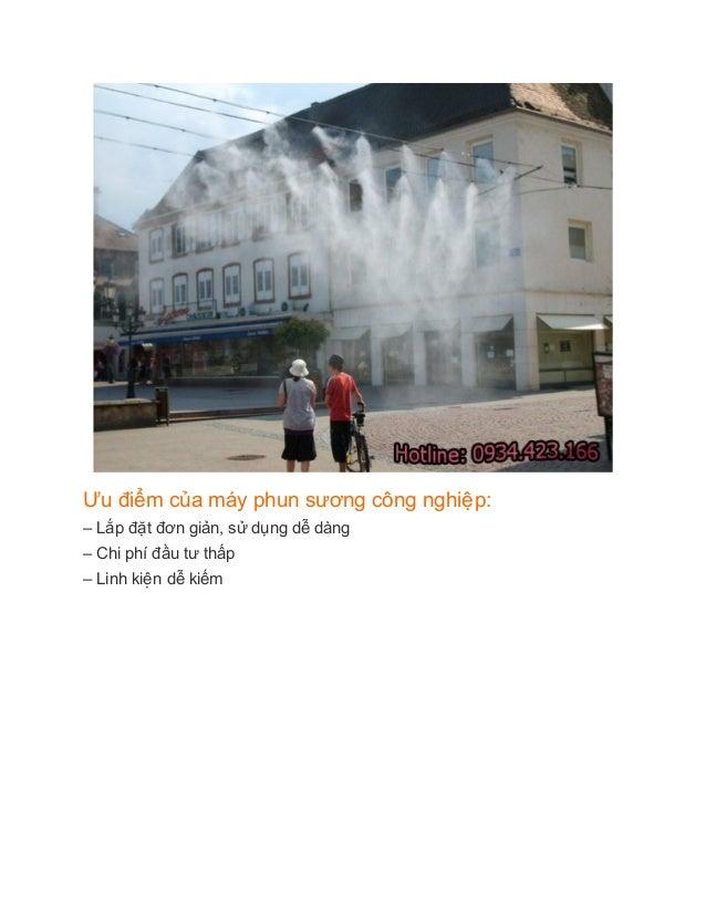 Tác dụng của máy phun sương công nghiệp Slide 3