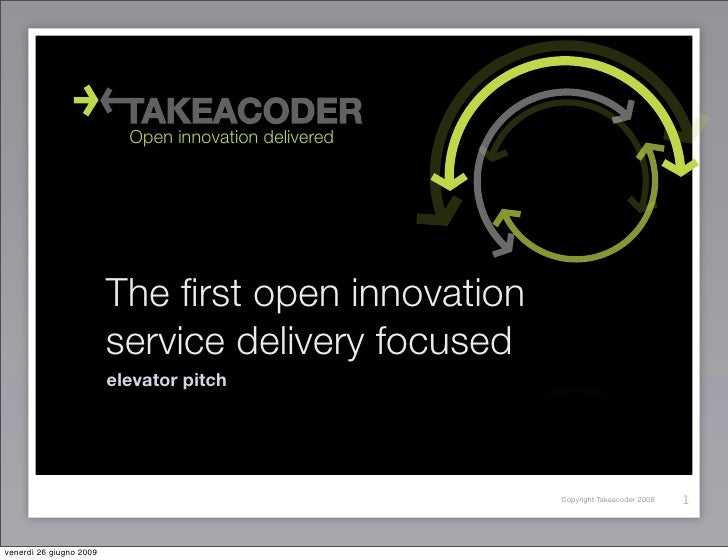 Open innovation delivered                              The first open innovation                          service delivery ...