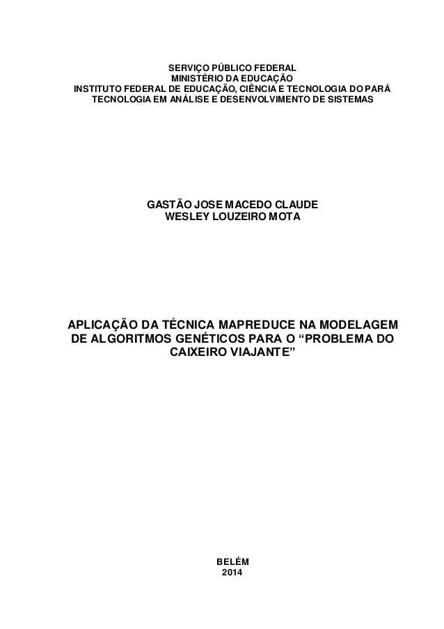 SERVIÇO PÚBLICO FEDERAL MINISTÉRIO DA EDUCAÇÃO INSTITUTO FEDERAL DE EDUCAÇÃO, CIÊNCIA E TECNOLOGIA DO PARÁ TECNOLOGIA EM A...