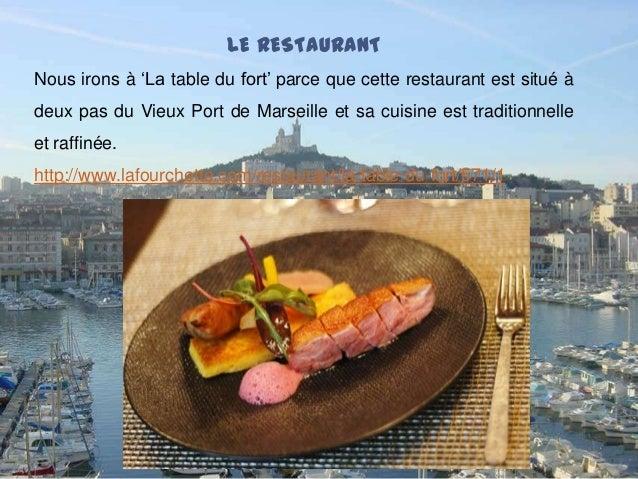 T che3 un super soir e a marseille - Restaurant la table du fort marseille ...