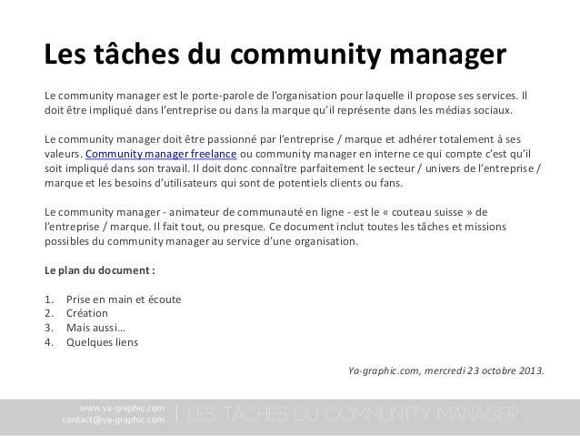 Les tâches du community manager Slide 2