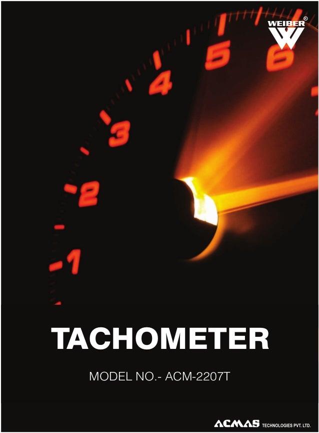 R  TACHOMETER MODEL NO.- ACM-2207T