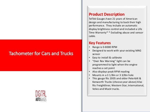 Tachometer for Cars and Trucks | tachometer gauge, digital tachometer