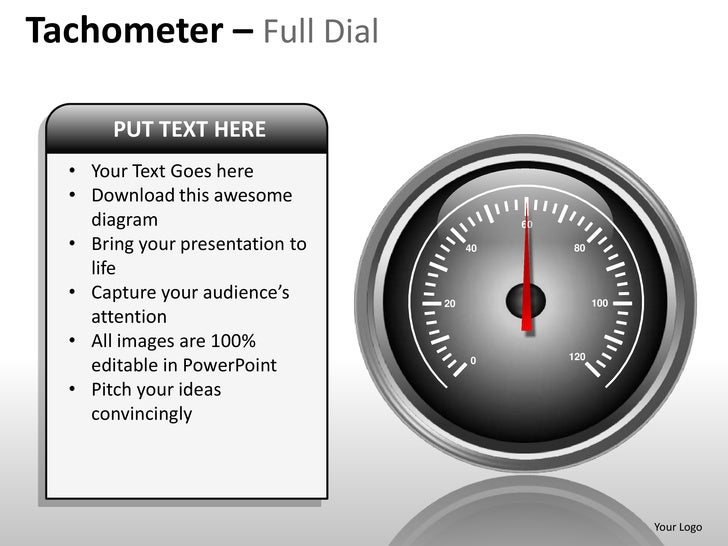 speedometer tachometer full dial powerpoint presentation templates, Powerpoint templates
