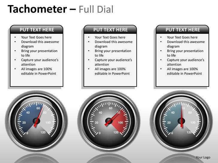 speedometer tachometer full dial powerpoint presentation