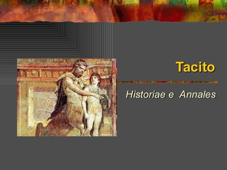 Tacito Historiae e  Annales