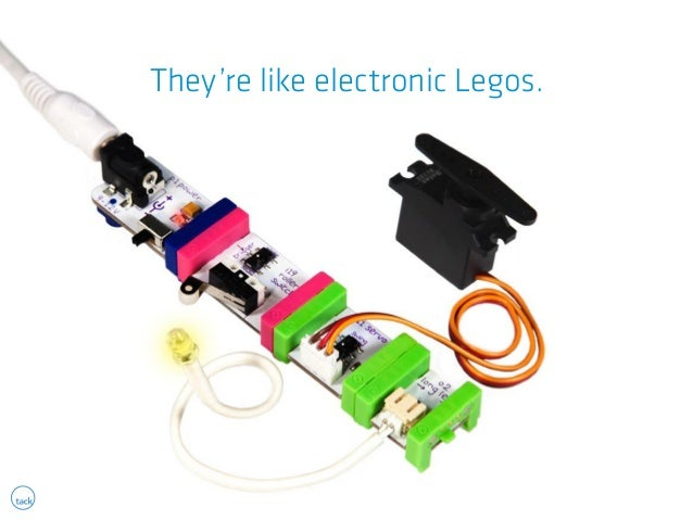 They're like electronic Legos.