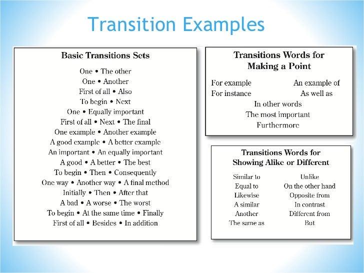 essay transitions