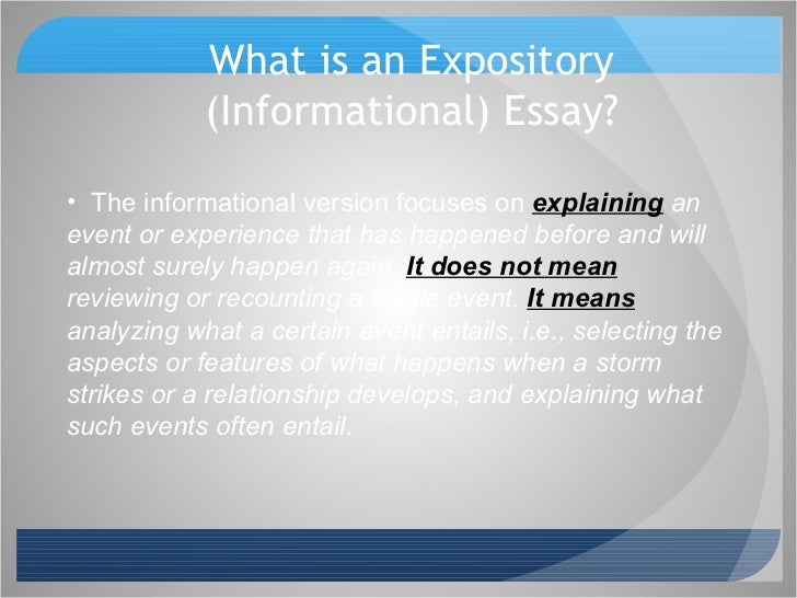 tackling a writing prompt informational  3 what is an expository informational essay