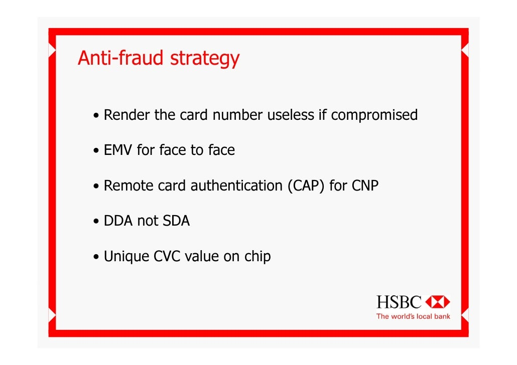 Tackling Card Fraud Hsbc Derek Wylde