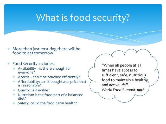 World Food Security Summit