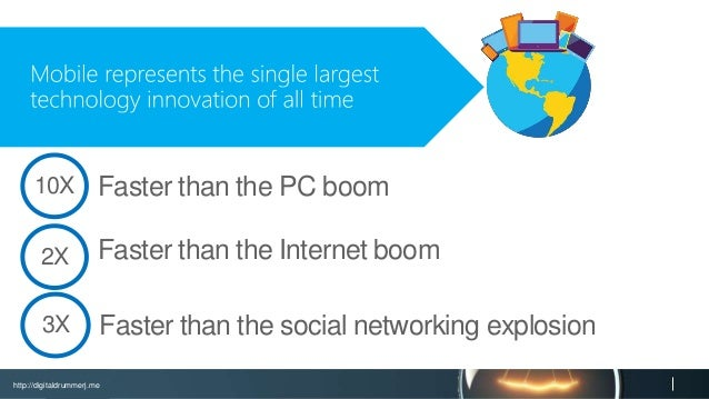 http://digitaldrummerj.me Faster than the PC boom10X Faster than the Internet boom2X Faster than the social networking exp...