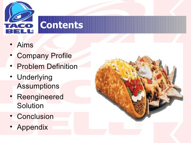 reengineering taco bell 250000 free taco-bell performance management papers & taco-bell performance management essays at #1 essays bank since 1998 biggest and the best essays bank taco.