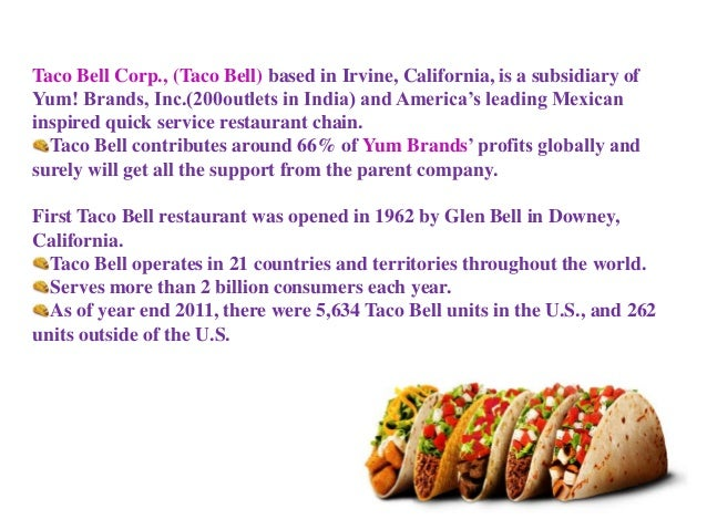 taco bell strategic plan Part one building competitive advantage chapter1 chapter2 chapter3 chapter4 chapter5 the strategic management process  ,taco bell,and domino's pizza are.