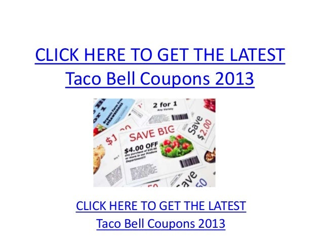photograph about Taco Bell Printable Coupons identified as Taco Bell Coupon codes 2013 - Printable Taco Bell Coupon codes 2013