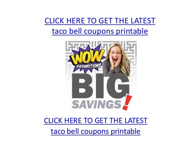 photograph about Taco Bell Coupons Printable referred to as Taco bell coupon codes printable