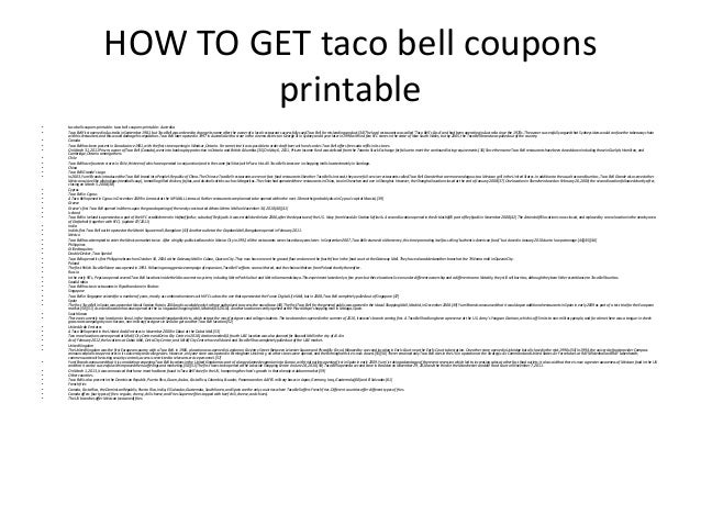 graphic regarding Taco Bell Coupons Printable referred to as Taco bell discount codes printable