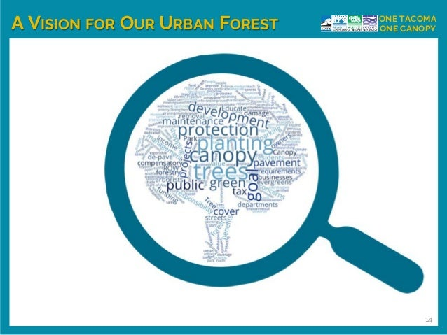 A VISION FOR OUR URBAN FOREST ONE TACOMA ONE CANOPY 14
