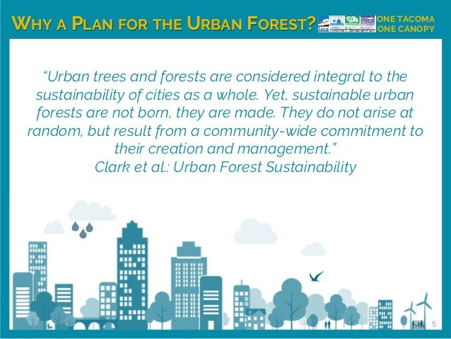 """""""Urban trees and forests are considered integral to the sustainability of cities as a whole. Yet, sustainable urban forest..."""