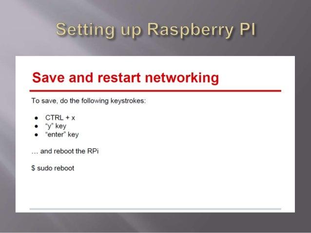 Tac Presentation October 72014- Raspberry PI