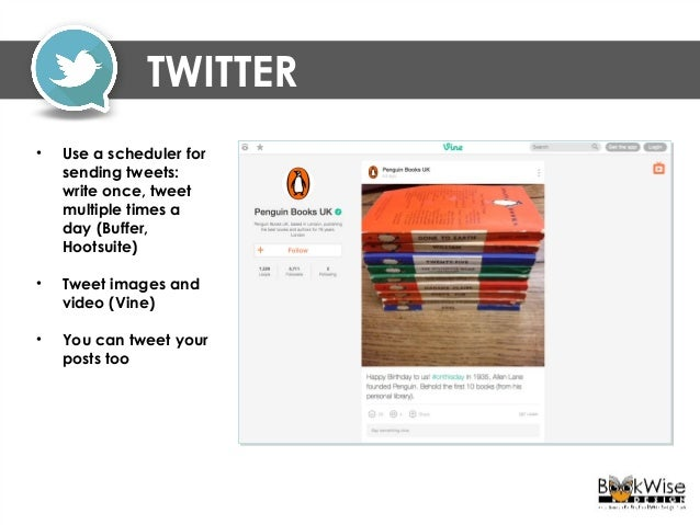 TWITTER - HASHTAGS • Anyone can create a hashtag, capital letters do not matter, but do not use spaces • Good form is no m...