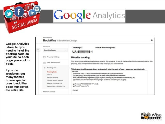 ANALYTICS Google Analytics provides an in-depth look at how your audience uses your site. Dashboard, shows key measurement...