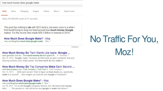 No Traffic For You,  Moz!