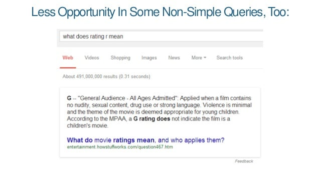 Less Opportunity In Some Non-Simple Queries, Too: