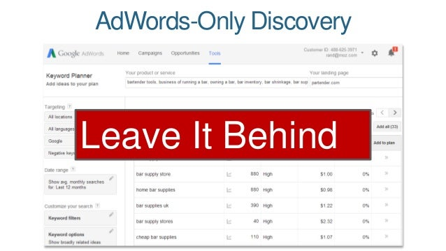 AdWords-Only Discovery  Leave It Behind