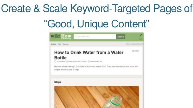 "Create & Scale Keyword-Targeted Pages of  ""Good, Unique Content"""